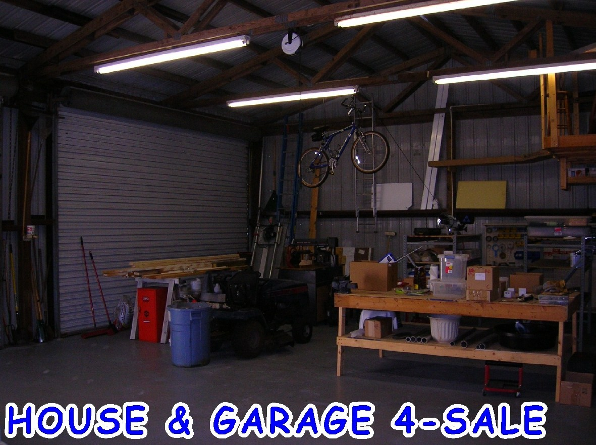 For sale by owner house large building in lady lake - Inside of a garage ...